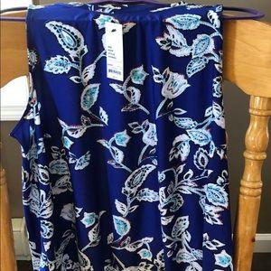 Blue flower tank top